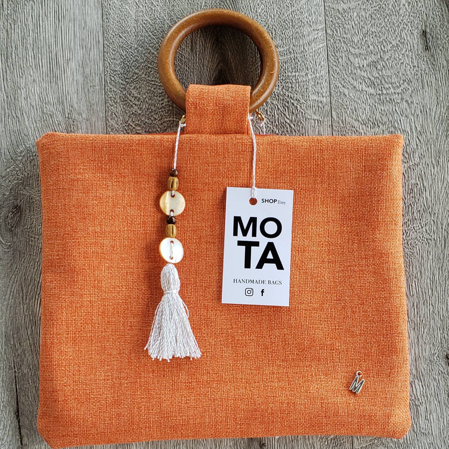 Handmade bag, Color Orange.