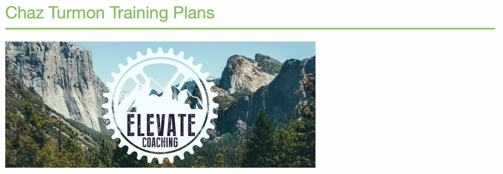 Elevate Coaching Cycling Training plans