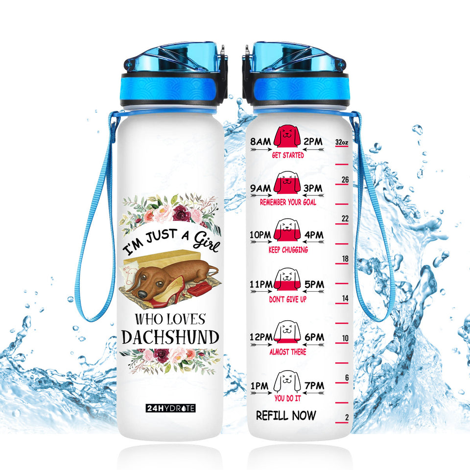 I'm just a girl who loves dachshund water tracker bottle TF0706GV15_Dads