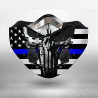 Thin Blue Line USA CLOTH FACE MASK WASHABLE PRINTED 3D - BBPL0707TB21