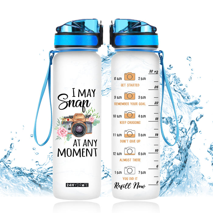 I May Snap At Any Moment Water Tracker Bottle - MNPO1006GV4_Dads