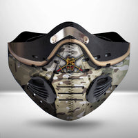 British Soldier Armor Scifi Fantasy CLOTH FACE MASK WASHABLE PRINTED 3D -BBTT0207GV42_Dads