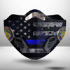 Florida Highway Patrol  CLOTH FACE MASK WASHABLE PRINTED 3D - KOTM2107GV3_Dads