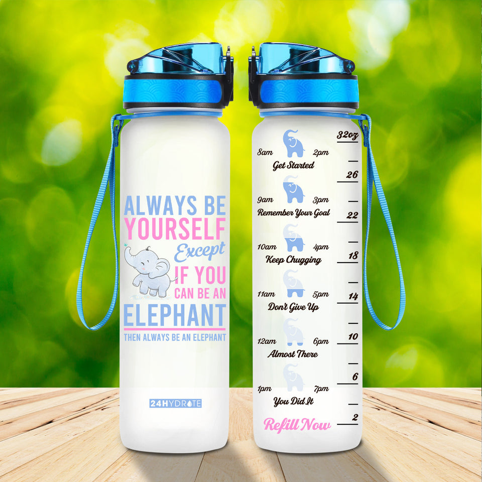 Be An Elephant Water Tracker Bottle 32oz - MNTF1906GV1_Mads