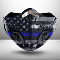 Thin Blue Line USA  CLOTH FACE MASK WASHABLE PRINTED 3D - KOLL2007GV15_Mads