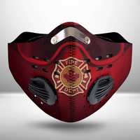 Canadian Firefighter CLOTH FACE MASK WASHABLE PRINTED 3D - KODD0807GV5_Mads