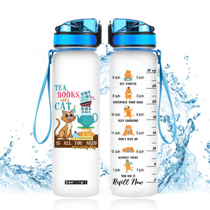 Cat Is All You Need Water Tracker Bottle - THPO1906GV9_Thads
