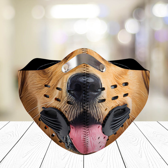 Golden Retriever - CLOTH FACE MASK WASHABLE PRINTED 3D - NLLT0506GV17_Mads