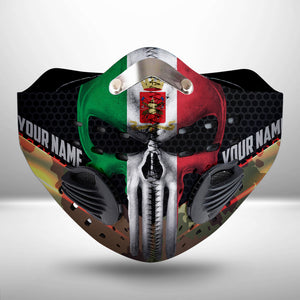 Italian Army Custom Name CLOTH FACE MASK WASHABLE PRINTED 3D - PL2906GV12_Mads