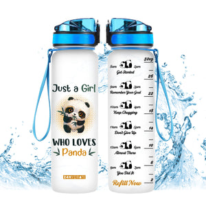 Just A Girl Who Loves Pandas Water Tracker Bottle 32oz - MNTF2206GV7_Mads