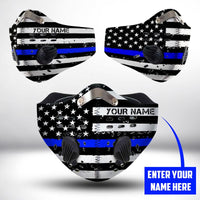 Thin Blue Line USA  CLOTH FACE MASK WASHABLE PRINTED 3D - BBPL0707TB04
