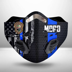 Miami-Dade Police Department CLOTH FACE MASK WASHABLE PRINTED 3D -KOTT2506GV31_Thads