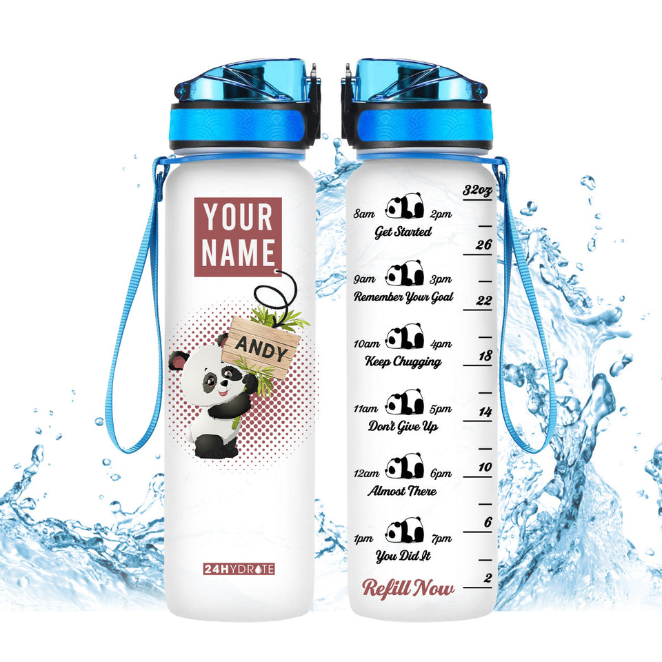 Panda Personalized Water Tracker Bottle 32oz - MNTF2306GV3_Mads