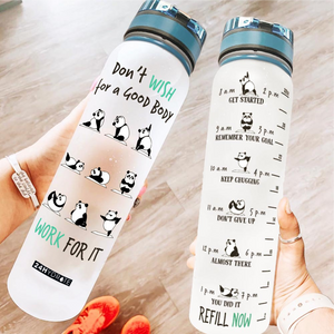 Panda Yoga Water Tracker Bottle Water Tracker Bottle BBPL0709BO20.png
