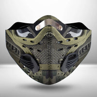 Soldier Armor Scifi Fantasy CLOTH FACE MASK WASHABLE PRINTED 3D-TT2207GV30