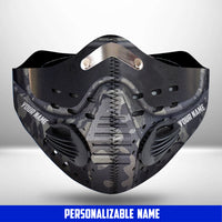 Custom Soldier Armor Scifi Fantasy CLOTH FACE MASK WASHABLE PRINTED 3D -TT2207GV36