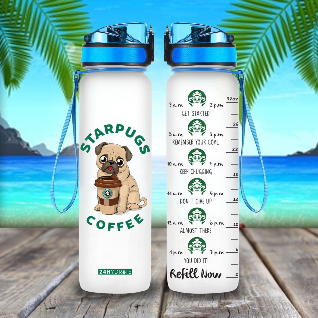 Starpugs Coffee Water Tracker Bottle 32oz - MNPL1706GV7_Mads
