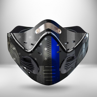 Thin Blue Line USA  CLOTH FACE MASK WASHABLE PRINTED 3D -KODH1007GV18_Mads