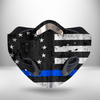 Thin Blue Line Betsy Ross Flag CLOTH FACE MASK WASHABLE PRINTED 3D -TRHH2207GV6
