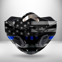 Thin Blue Line USA CLOTH FACE MASK WASHABLE PRINTED 3D  -TRHH1607GV1_Dads