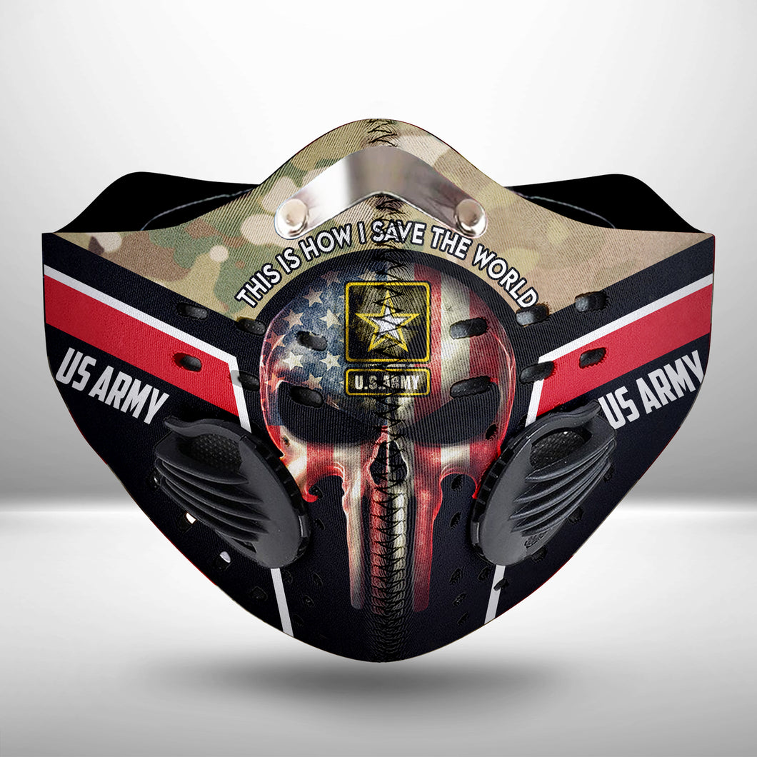 US Army CLOTH FACE MASK WASHABLE PRINTED 3D- THPO2606GV3_Thads