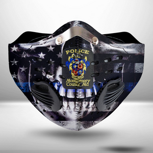 Montgomery County Police CLOTH FACE MASK WASHABLE PRINTED 3D -KOTM2107GV13_Mads