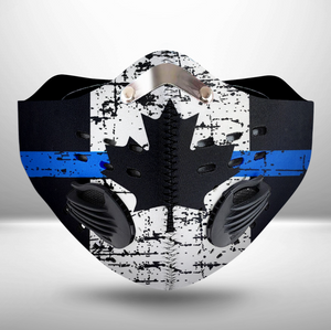 Canadian Thin Blue Line CLOTH FACE MASK WASHABLE PRINTED 3D  -KOTM2207GV1