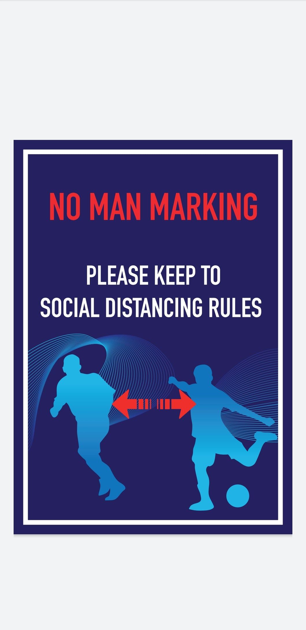 Social Distance - Wall Signage (Own Design)