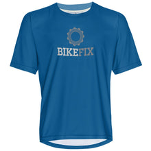 Load image into Gallery viewer, BIKEFIX Blue - MTB Short Sleeve Jersey