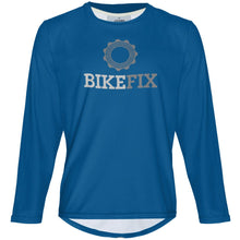 Load image into Gallery viewer, BIKEFIX Blue - MTB Long Sleeve Jersey