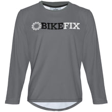 Load image into Gallery viewer, BIKEFIX Gray - MTB Long Sleeve Jersey