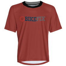 Load image into Gallery viewer, BIKEFIX Venture Red - MTB Short Sleeve Jersey