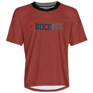 BIKEFIX Venture Red - MTB Short Sleeve Jersey