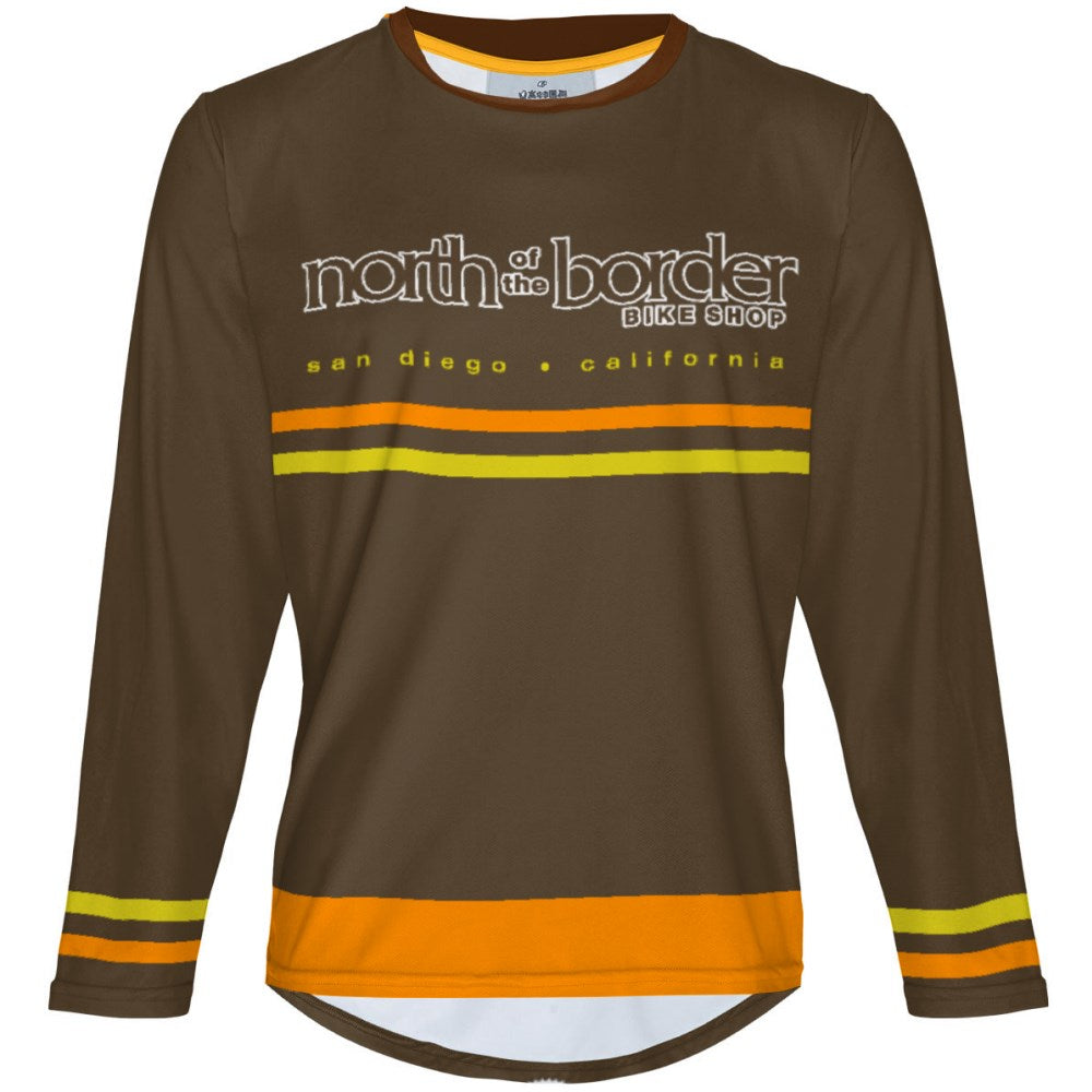 North of the Border Brown - MTB Long Sleeve Jersey