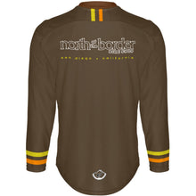Load image into Gallery viewer, North of the Border Brown - MTB Long Sleeve Jersey