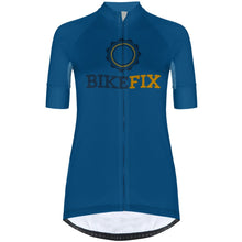 Load image into Gallery viewer, BIKEFIX Blue V - Women Jersey Pro 3