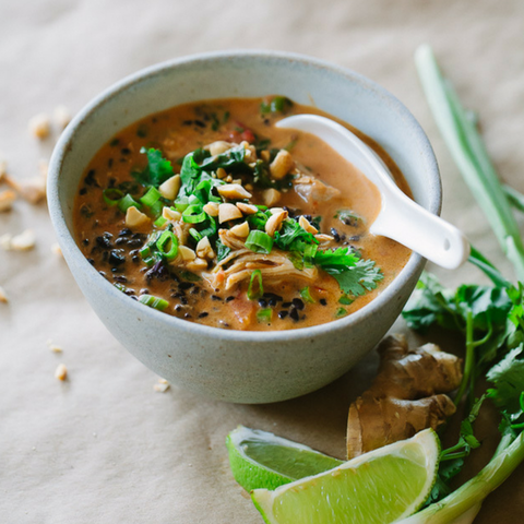 Thai Chicken Forbidden Rice Soup