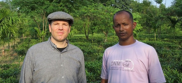 Tim in Kanoka Tea Estate, Assam