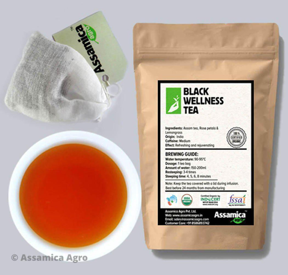 Organic Rose, Lemongrass Assam Tea Bags - Brew