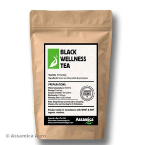 Organic Rose, Lemongrass Assam Tea Bags | Assamica Agro