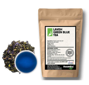 Load image into Gallery viewer, Lavish Green Blue Tea