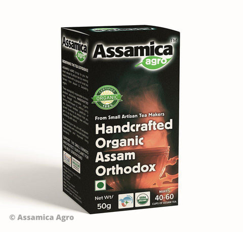 Handcrafted Organic Assam Orthodox Tea - 50g Box