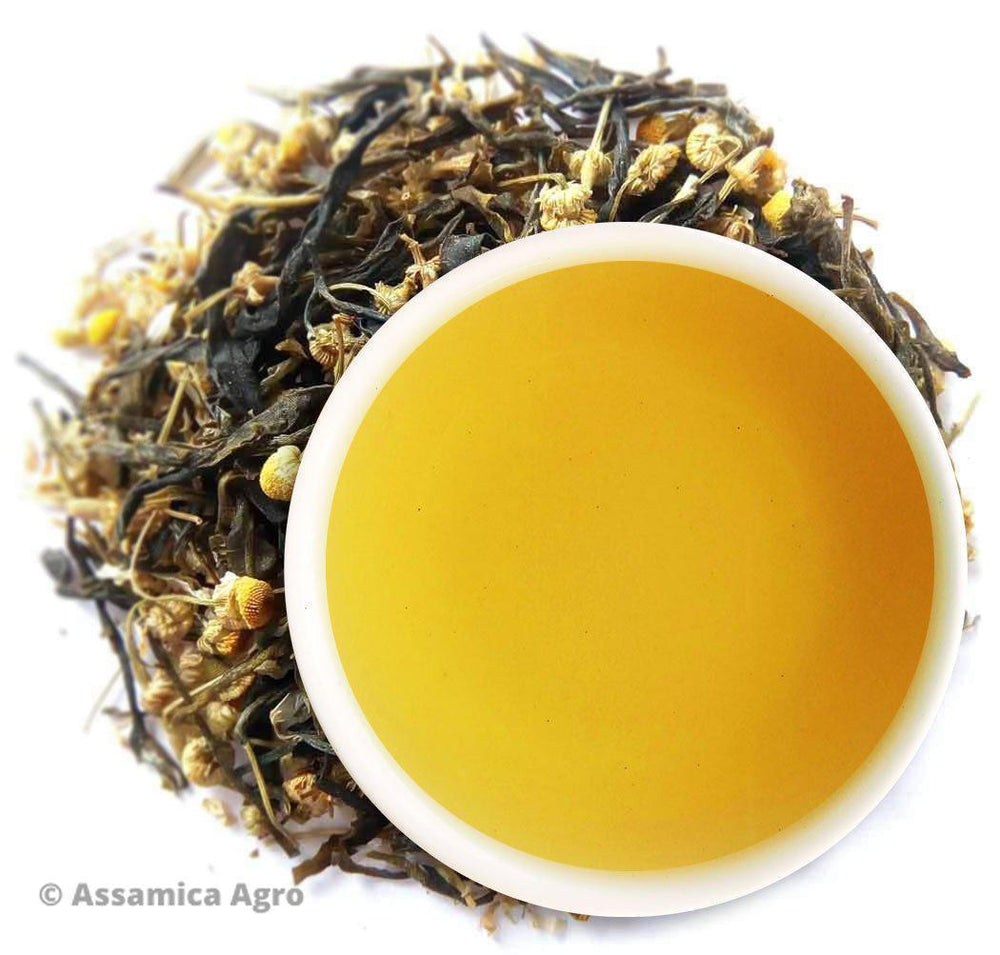 Organic Chamomile Green Tea: Chamomile Green Sunshine