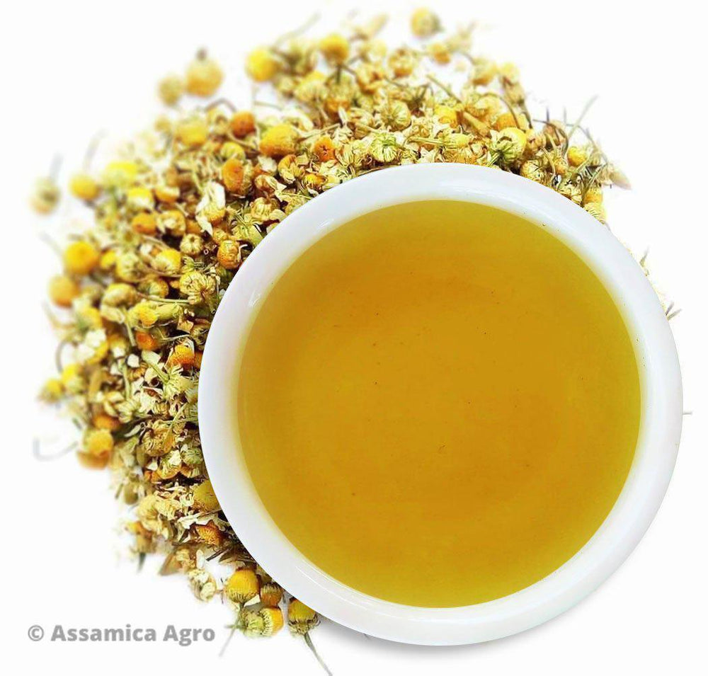 Organic Chamomile Tea: Chamomile Radiance - Wet Leaves