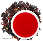 Organic Hibiscus Tea: Zesty Hibiscus - Wet Leaves