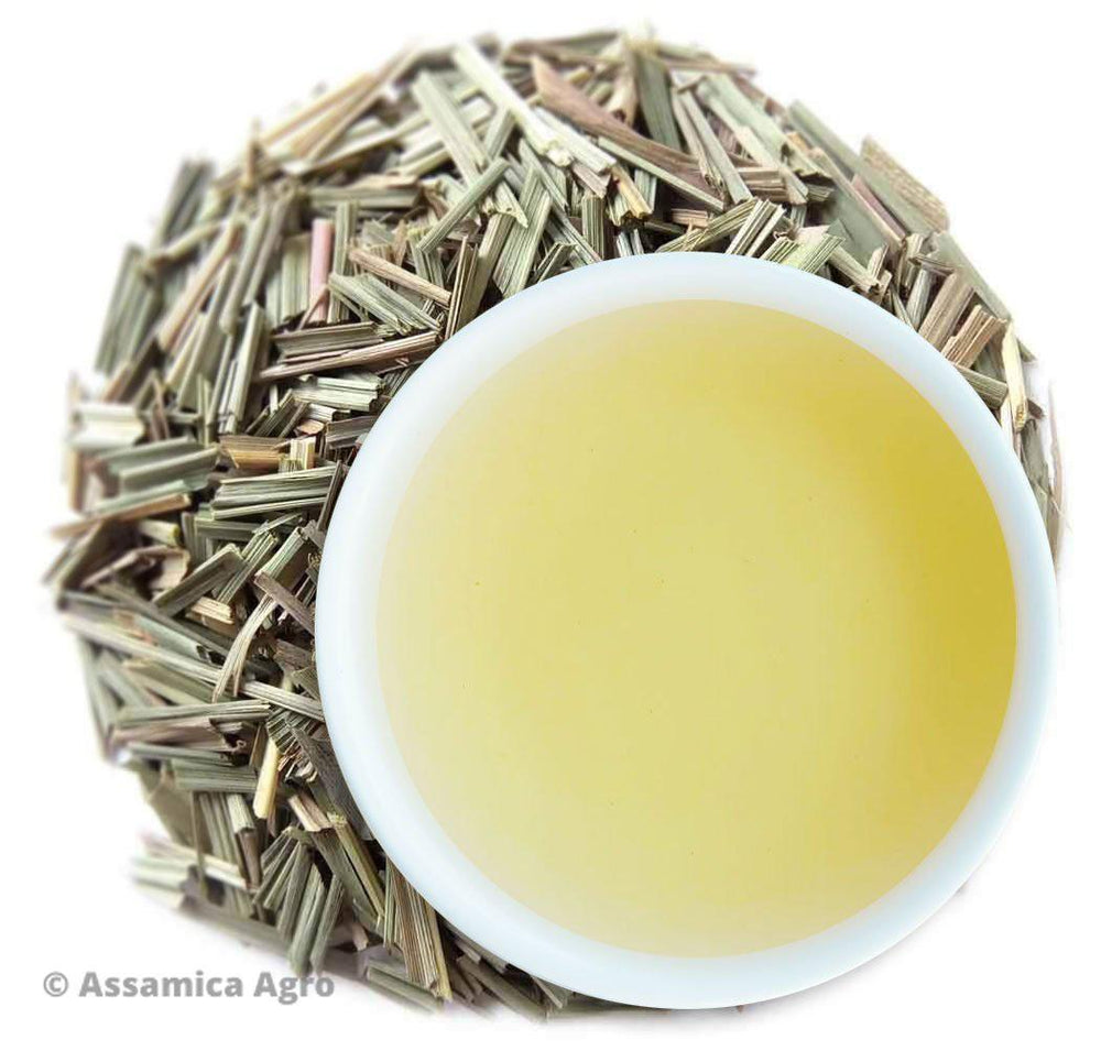 Organic Lemongrass Tea: Lemongrass Verve - Wet Leaves
