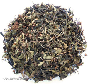 Organic Mint Green Tea: Mint Green Exposure - Dry Leaves