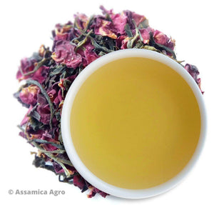 Load image into Gallery viewer, Organic Rose Green Tea: Rose Green Allure