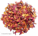 Organic Rose Tea: Rose Delight - Wet Leaves