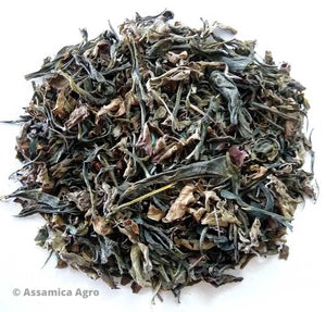 Organic Tulsi Green Tea: Tulsi Green Sensation - Dry Leaves